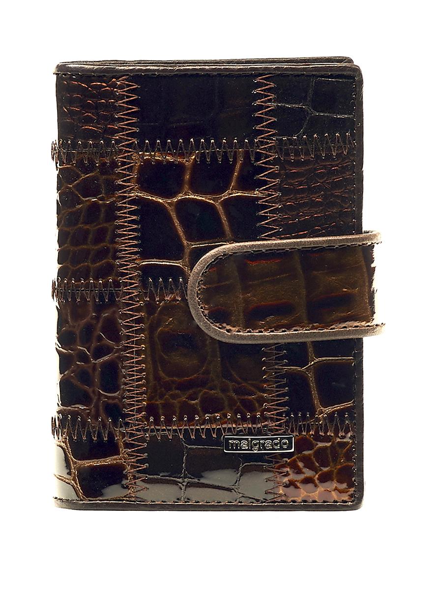 Визитница Malgrado, цвет: коричневый. 42003A-490A