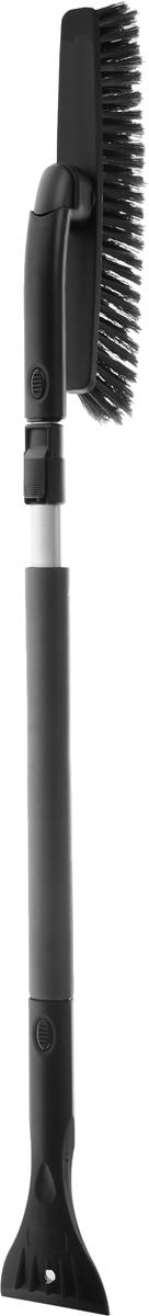 Щетка автомобильная Sapfire, со съемным скребком, поворотная, цвет: черный, длина 100-137 см0413-SBU_чёрныйЩетка автомобильная Sapfire предназначена для удаления снега и льда. Оснащена мощной рукояткой из алюминия и съемным скребком. Длина ручки может регулироваться. Трехрядная распушенная щетина из полимера бережно удаляет снег, не царапая лакокрасочное покрытие. Съемная щетка может поворачиваться. Ширина скребка: 9 см. Длина рабочей части щетки: 31 см. Длина щетки: 100-137 см.