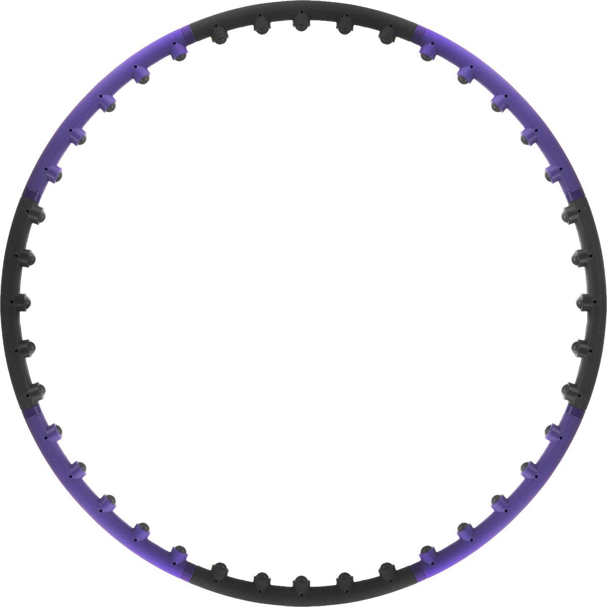 Обруч массажный Star Fit, разборный, цвет: фиолетовый, черный, диаметр 98 смНН-104Star Fit - это массажный разборный обруч от популярного австралийского бренда. Обруч легко собирается и разбирается. Диаметр регулируется, благодаря чему обруч подходит взрослым и детям. Упражнения с этим обручем сжигают больше калорий, чем с обычным. Улучшается кровообращение, усиливается мышечный тонус, что приводит к более активному сжиганию жира. Массажный обруч развивает координацию движений, гибкость, силу, чувство ритма, артистичность, укрепляет вестибулярный аппарат. Сжигает подкожный жир в проблемных участках тела, улучшает состояние кожи в области талии, живота и бёдер. Нормализует работу кишечника. Тренирует и развивает мышцы рук, плеч, спины и ног. С помощью обруча можно выполнять большое количество упражнений из гимнастики, и упражнений на растяжку. Массажный обруч удобен и прост в использовании. Не требует особых знаний и места для занятий. Достаточно вращать обруч 10-20 минут в день и таким образом фигура изменится в положительную сторону.