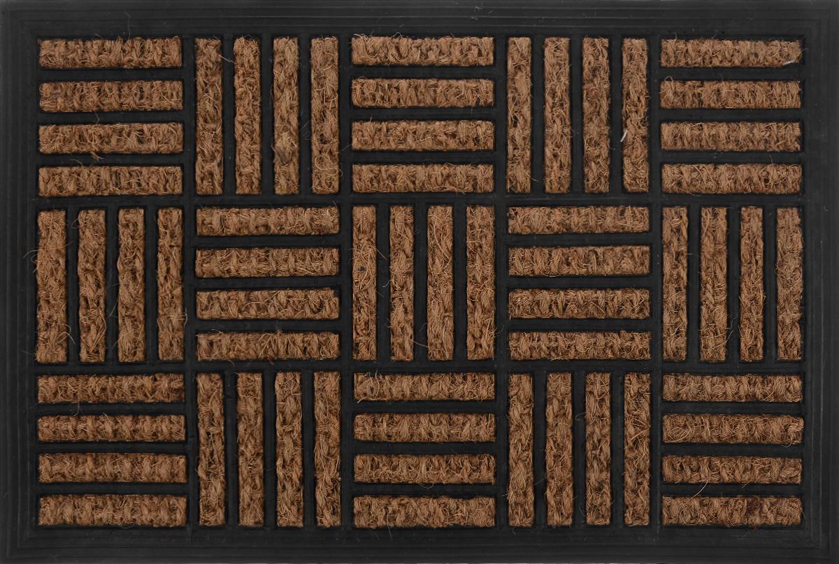 Коврик придверный Shree Sai International Панама. Паркет, 60 х 40 см144_черныйОригинальный придверный коврик Shree Sai International Панама. Паркет надежно защитит помещение от уличной пыли и грязи. Он изготовлен из жесткого кокосового волокна и нескользящей резиновой основы. Волокна кокоса не подвержены гниению и не темнеют, поэтому коврик сохранит привлекательный внешний вид на долгое время.