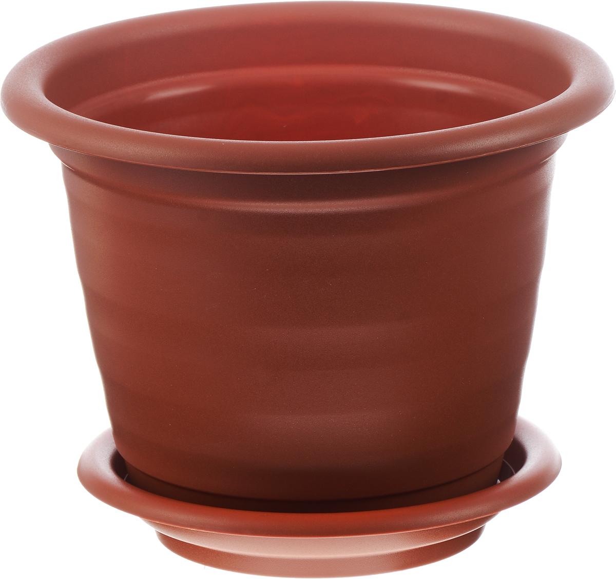 Кашпо Idea Ламела, с поддоном, цвет: терракотовый, 9 лМ 8204Кашпо Idea Ламела изготовлено из высококачественного пластика. Специальный поддон предназначен для стока воды. Изделие прекрасно подходит для выращивания растений и цветов в домашних условиях. Лаконичный дизайн впишется в интерьер любого помещения. Диаметр поддона: 24,5 см. Объем кашпо: 9 л. Диаметр кашпо по верхнему краю: 28 см. Высота кашпо: 42 см.