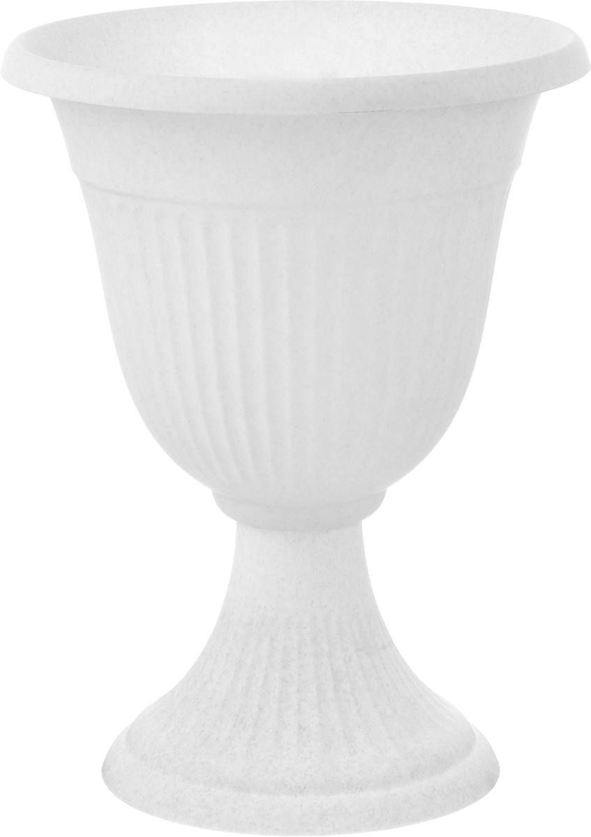 Вазон Idea Ливия, цвет: мраморный, высота 38 смМ 3202Вазон Idea Ливия изготовлен из высококачественного полипропилена (пластика). Верхняя часть съемная. Благодаря устойчивому широкому основанию вазон не упадет. Такой вазон прекрасно подойдет для выращивания растений и цветов в домашних условиях. Классический дизайн впишется в любой интерьер. Диаметр (по верхнему краю): 30 см. Высота: 38 см. Диаметр основания: 20,5 см.