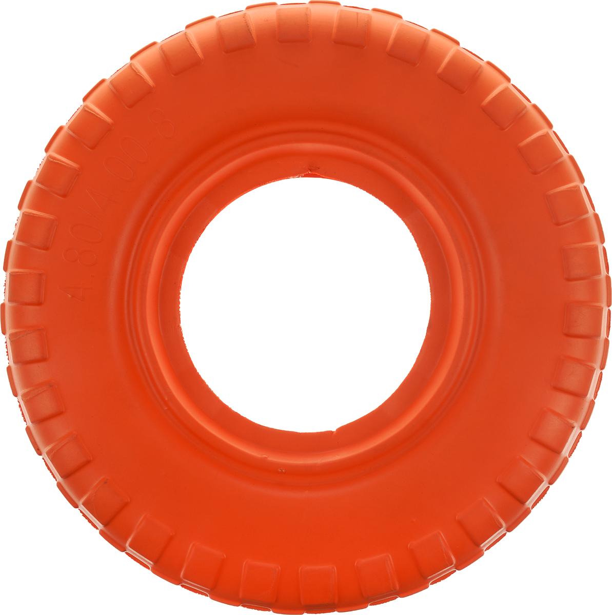 Игрушка для животных Doglike Шинка для колеса. Гига, диаметр 40 смDH 7517Doglike Шинка для колеса. Гига - простая и незамысловатая игрушка для собак, которая способна решить многие проблемы здоровья вашего четвероногого любимца. Если ваш пёс портит мебель, излишне агрессивен, непослушен или страдает излишним весом то, скорее всего, корень всех бед кроется в недостаточной физической и эмоциональной нагрузке. Порадуйте своего питомца прекрасным и качественным подарком. Диаметр игрушки: 40 см.