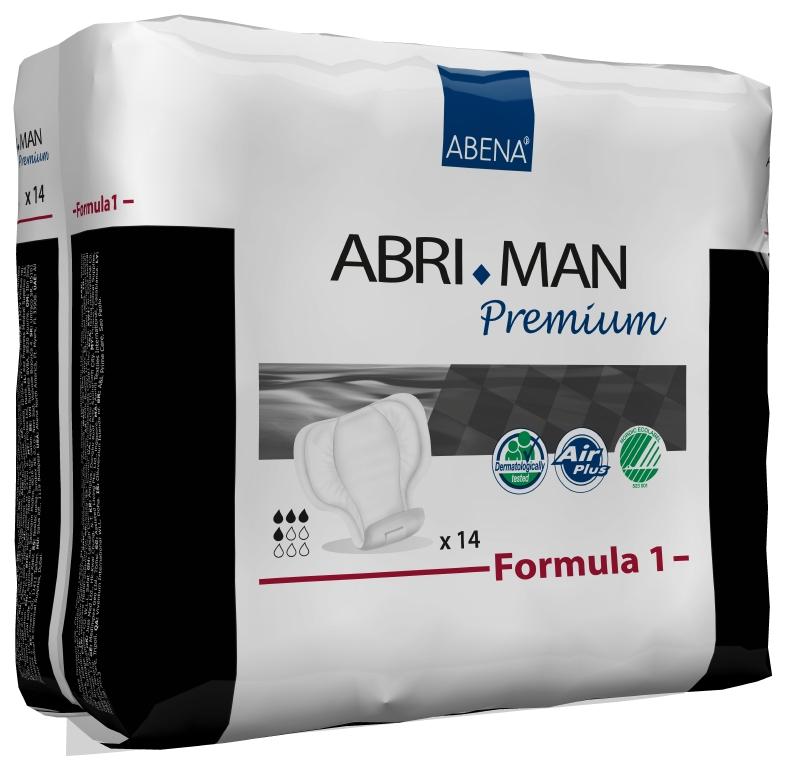 Abena Прокладки урологические мужские Abri-Man Formula 1 14 шт 4100641006Мужские прокладки Abri-Man Formula 1, 14 шт, 450 мл - множество мужчин страдает от недержания в том или ином виде. Abri-Man предлагает решения, позволяющие вести полноценную активную жизнь. Преимущества вкладышей и прокладок Abri-Man: ? специально для мужчин, ? превращают жидкость в гель, запирая запах изнутри, ? гарантированная сухость за счет инновационной технологии быстрого впитывания, ? гипоаллергенные экологически чистые материалы, ? экономичны благодаря системе «2-в-1». Abri-Man Formula 1, 2 максимальная защита от протекания благодаря уникальным бортикам в форме кармашков, расположенным по длине прокладки; оптимальный комфорт и безопасность за счет особой формы, соответствующей мужской анатомии; прокладка с самоклеющимися полосками может использоваться в сочетании с плотно прилегающим нижним бельем или, в идеале, со специально разработанным фиксирующим бельем Abri-Fix.
