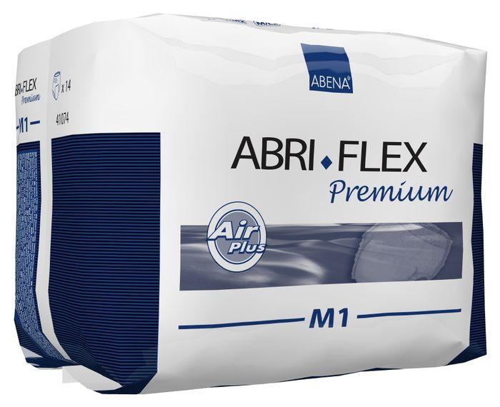 Abena Подгузники для взрослых Abri-Flex М1 дневные 14 шт 4108341083Подгузник-трусики, Abri-Flex Premium M1, 14 шт.,1400 мл - продукты серии Abri-Flex могут использоваться в качестве нижнего белья, обеспечивая свободу движения. Abri-Flex удерживается на бедрах за счет увеличенного количества эластичных нитей по сравнению с другими аналогичными продуктами. Подгузники-трусики Abri-Flex Zero подходят для легкой степени недержания, имеют высокий профиль и полностью белый наружный слой. Подгузник-шортики Abri-Flex Special обладает уникальной эластичностью, которая обеспечивает точную посадку в области ног и паха, и является идеальным решением для физически активных людей, а также для тех, кому не подходят традиционные трусики pull-up. Преимущества подгузников для взрослых Abri- Flex: ? мягкий пояс надежно и деликатно удерживает подгузник на месте, ? превращают жидкость в гель, запирая запах изнутри, ? имеют цветной сегментированный индикатор намокания, ? гарантируют сухость за счет инновационной технологии быстрого впитывания слоя 3D DualCore®, ? сделаны...