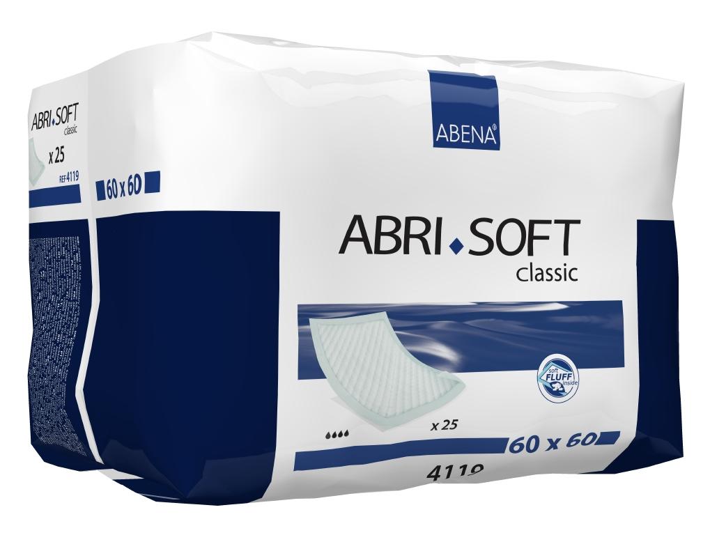 Abena Пеленка одноразовая Abri-Soft Classic 60 х 60 см 25 шт 41194119Впитывающие пеленки, Abri-Soft, Classic, 60x60 см, 25 шт., 1300 мл– изделие с высоким уровнем впитываемости, обеспечивает надежную защиту во время проведения длительных диагностических, гигиенических и медицинских процедур. Одноразовые впитывающие пеленки Abri-Soft подходят для защиты постельного белья и других поверхностей при проведении различных медицинских процедур, а также для использования в качестве дополнительной защиты постели и кресел во время смены прокладки или подгузника. Пеленки Abri-Soft состоят из водонепроницаемого полиэтиленового нижнего слоя, распушенного целлюлозного волокна, суперабсорбента (Abri-Soft Superdry) нетканого материала и герметичных кромок с четырех сторон для защиты от протекания. Преимущества Abri-Soft: - водопроницаемый внешний слой и герметичные кромки по периметру пеленки обеспечивают надежную защиту от протеканий; - волокно/суперабсорбирующий слой обеспечивают высокую степень впитываемости; - равномерно впитывают жидкость и не собираются в...