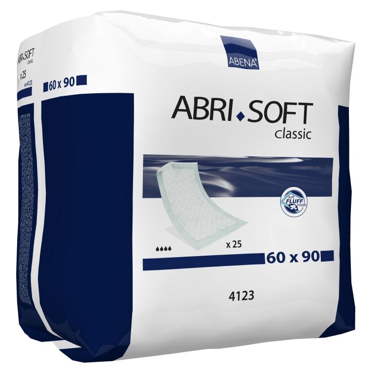 Abena Пеленка одноразовая Abri-Soft Classic 60 х 90 см 25 шт 41234123Впитывающие пеленки, Abri-Soft, Classic, 60x90 см, 25 шт., 2100 мл– изделие с высоким уровнем впитываемости, обеспечивает надежную защиту во время проведения длительных диагностических, гигиенических и медицинских процедур. Одноразовые впитывающие пеленки Abri-Soft подходят для защиты постельного белья и других поверхностей при проведении различных медицинских процедур, а также для использования в качестве дополнительной защиты постели и кресел во время смены прокладки или подгузника. Пеленки Abri-Soft состоят из водонепроницаемого полиэтиленового нижнего слоя, распушенного целлюлозного волокна, суперабсорбента (Abri-Soft Superdry) нетканого материала и герметичных кромок с четырех сторон для защиты от протекания. Преимущества Abri-Soft: ? водопроницаемый внешний слой и герметичные кромки по периметру пеленки обеспечивают надежную защиту от протеканий; ? волокно/суперабсорбирующий слой обеспечивают высокую степень впитываемости; ? равномерно впитывают жидкость и не собираются в...