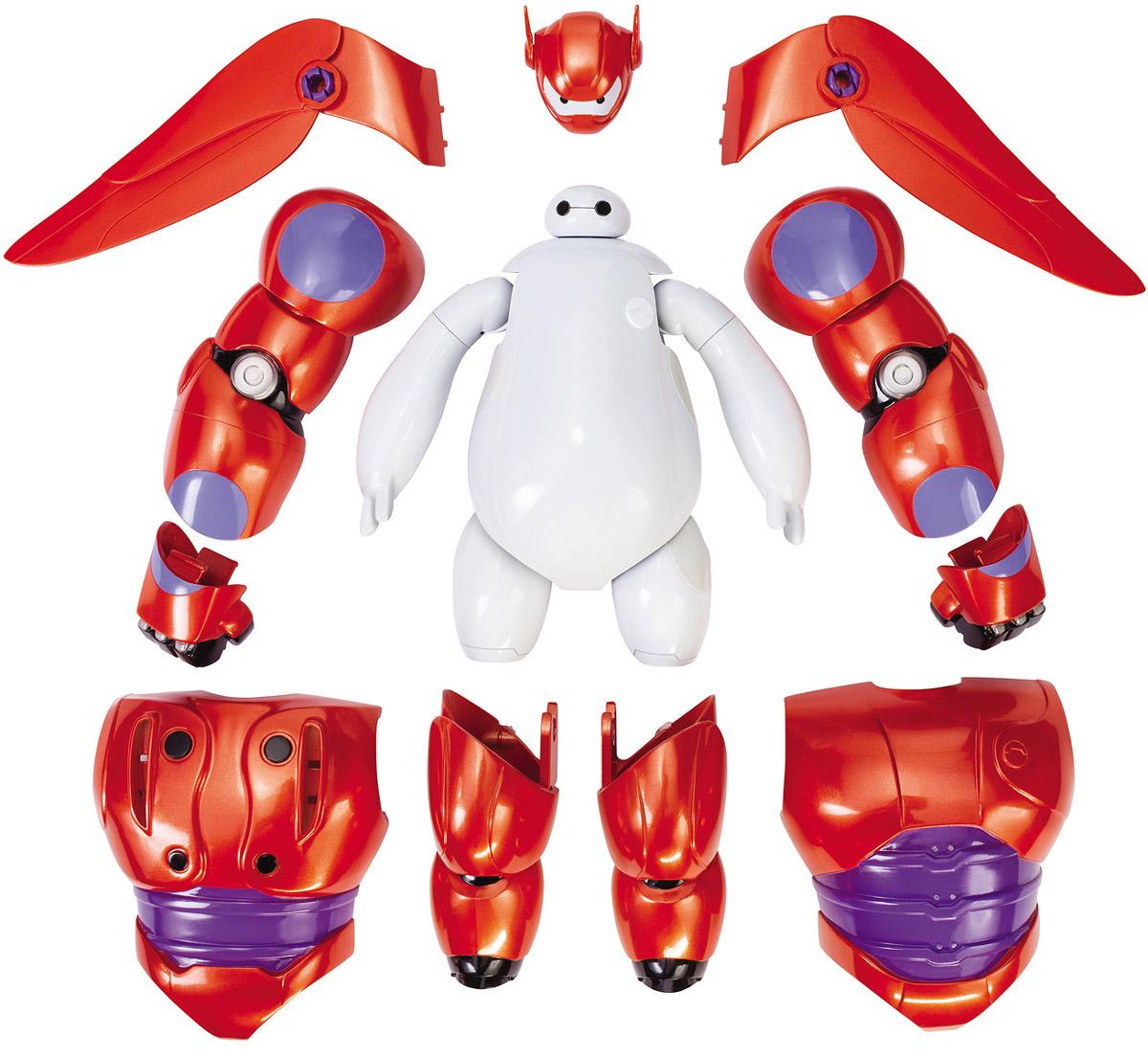 Big Hero 6 Фигурка Бэймакс с аксессуарами38700Фигурка Big Hero 6 Бэймакс понравится любому маленькому поклоннику мультфильма Город героев, ведь она представляет собой точную детализированную копию робота Бэймакса из мультфильма. Фигурка выполнена из прочного пластика, ее руки, ноги и голова подвижны. В комплект также входят аксессуары - броня и крылья для Бэймакса, которая без труда снимается и надевается, давая малышу неограниченный простор для фантазии и игр. Надеть броню очень легко, с ней милый Бэймакс превращается в грозного боевого робота. Броня в точности повторяет внешний вид Бэймакса из мультфильма, и порадует даже самого взыскательного маленького коллекционера. Бэймакс - главный герой мультфильма Город Героев. Он является персональным помощником по уходу за здоровьем и всегда здоровается своей коронной фразой Привет, я Бэймакс! Ваш персональный робот для помощи по уходу за здоровьем Добрый, милый и заботливый надувной робот стал лучшим другом для Хиро. Фигурка надолго увлечет вашего малыша...
