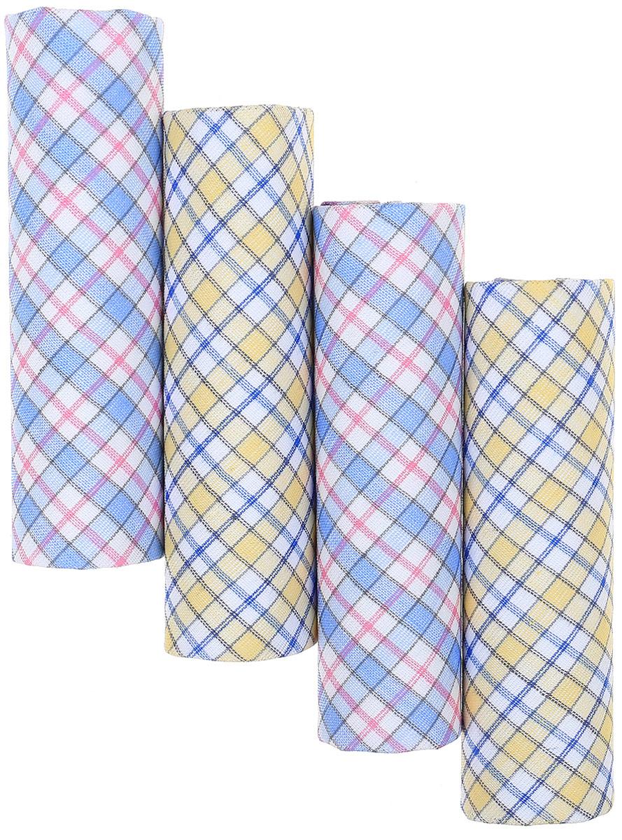 Носовой платок женский Zlata Korunka, цвет: мультиколор, 4 шт. 71420. Размер 28 х 28 см71420Женские носовые платки Zlata Korunka изготовлены из натурального хлопка, приятны в использовании, хорошо стираются, материал не садится и отлично впитывает влагу. В упаковке 4 штуки.