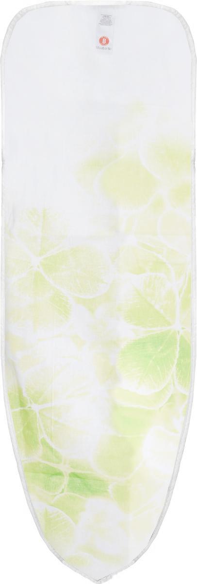 Чехол для гладильной доски Brabantia, цвет: белый, салатовый, 124 х 38 см. 191404191404_белый,салатовый клеверЧехол для гладильной доски Brabantia подарит вашей доске новую жизнь и создаст идеальную поверхность для глажения и отпаривания белья. Чехол разработан специально для гладильных досок Brabantia и подходит для большинства утюгов и паровых систем. Изделие выполнено из натурального 100%-ого хлопка с подкладкой из поролона (2 мм). Благодаря системе фиксации (эластичный шнурок с ключом для натяжения и резинка с крючками по центру) чехол легко крепится к гладильной доске, а поверхность всегда остается гладкой и натянутой. С помощью цветной маркировки на чехле и гладильной доске вы легко подберете чехол подходящего размера.