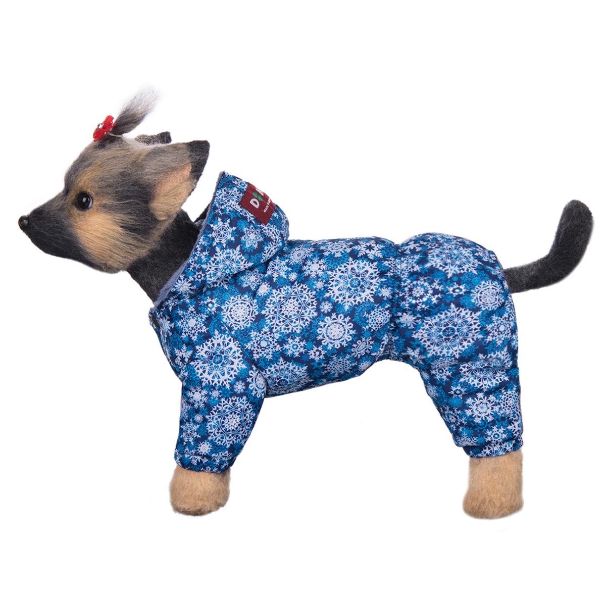 Комбинезон для собак Dogmoda Зима, для мальчика. Размер 3 (L)DM-160258-3Зимний комбинезон для собак Dogmoda Зима отлично подойдет для прогулок в зимнее время года. Комбинезон изготовлен из полиэстера, защищающего от ветра и снега, с утеплителем из синтепона, который сохранит тепло даже в сильные морозы, а на подкладке используется искусственный мех, который обеспечивает отличный воздухообмен. Комбинезон с капюшоном застегивается на кнопки, благодаря чему его легко надевать и снимать. Капюшон не отстегивается. Низ рукавов и брючин оснащен внутренними резинками, которые мягко обхватывают лапки, не позволяя просачиваться холодному воздуху. Благодаря такому комбинезону простуда не грозит вашему питомцу.