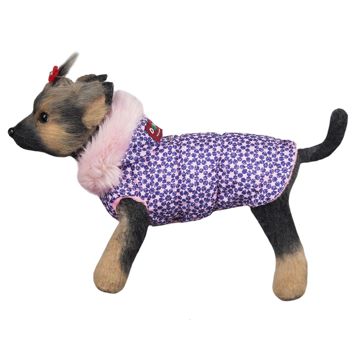Куртка для собак Dogmoda Аляска, для девочки. Размер 3 (L)DM-160290-3Куртка для собак Dogmoda Аляска изготовлена из полиэстера водоотталкивающего типа. Для подкладки был использован синтепон и искусственный мех. Изделие легко одевается и снимается, не доставляя неприятных минут хозяину и его питомцу. Технология пошива аляски не стесняет движений и позволяет весело бегать наперегонки с четвероногими друзьями. Непрерывный теплообмен обеспечивает сохранение свежести кожного покрова, который у маленьких собачек особенно чувствителен и уязвим. Светлые, мягкие и яркие тона аляски будут гармонировать с веселостью и подвижностью домашнего любимца на прогулке. Одежда надежно защитит собачку от пронизывающей зимней стужи и позволит от души наслаждаться свежим снегом и длительным пребыванием на прогулке в морозный день.