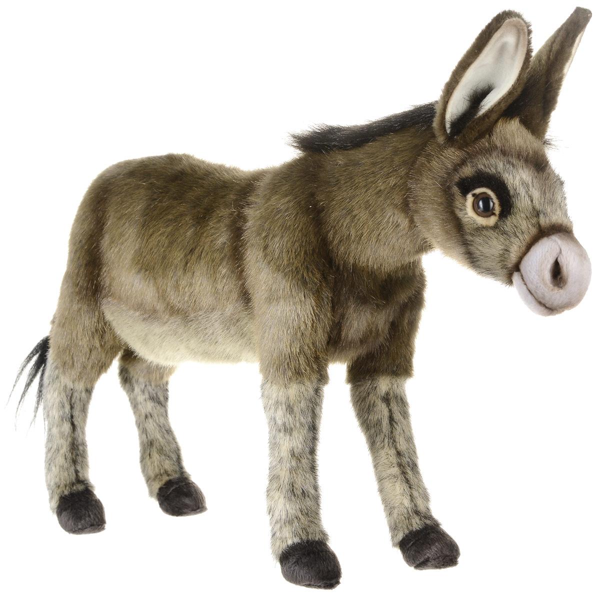 Hansa Toys Мягкая игрушка Ослик 41 см3805Осел принадлежит к семейству лошадиных, но движется медленнее, чем лошади. Период беременности может длиться в течение 12 месяцев. Рождается чаще всего один, редко-два осленка. Один из способов общения с другими ослами является резкий крик, который может длиться в течение 20 секунд. Ослы травоядные животные и в основном питаются полевой травой. Мягкая игрушка Hansa Toys Ослик обязательно понравится вам и вашему малышу, а также познакомит вас с этим животным.