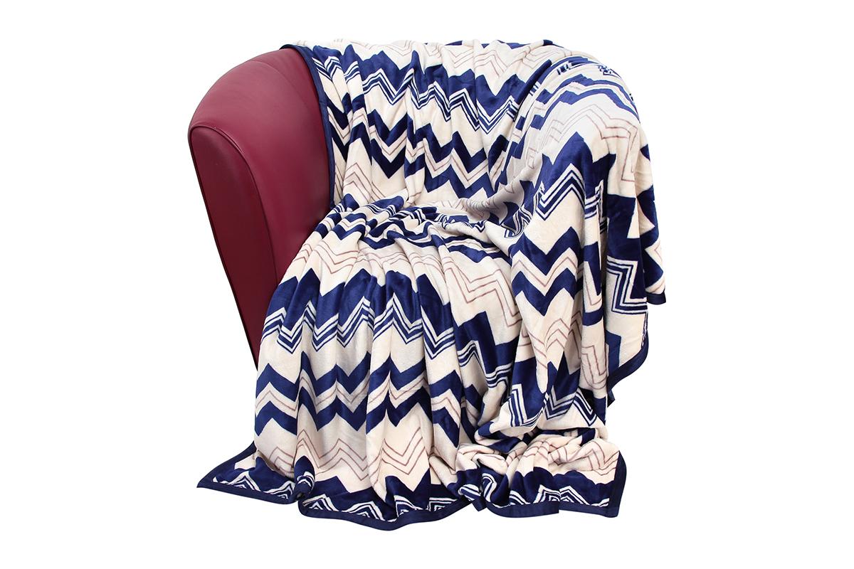 Плед EL Casa Морская волна, 180 х 200 см960008Уютный, легкий и прочный плед в оригинальном дизайне послужит украшением декора вашей комнаты и согреет вас и ваших близких. Устойчив к истиранию и скатыванию, не мнется, не деформируется, сохранит первоначальный вид даже при активном использовании и многочисленных стирках. Такой плед идеален в качестве подарка на любой праздник. Изделие в подарочной сумке с ручками. Плотность - 320 г/м2.
