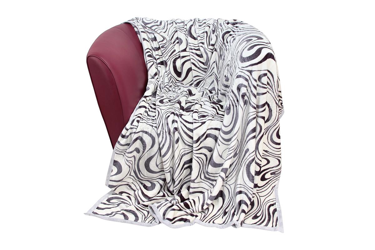 Плед EL Casa Зебра, цвет: серый, белый, 150 х 200 см960012Уютный, легкий и прочный плед в оригинальном дизайне послужит украшением декора вашей комнаты и согреет вас и ваших близких. Устойчив к истиранию и скатыванию, не мнется, не деформируется, сохранит первоначальный вид даже при активном использовании и многочисленных стирках. Такой плед идеален в качестве подарка на любой праздник. Изделие в подарочной сумке с ручками. Плотность - 320 г/м2.