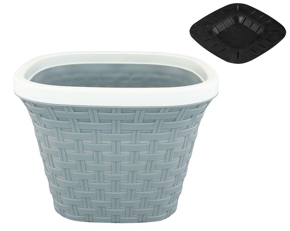 Кашпо квадратное Violet Ротанг, с дренажной системой, цвет: серый, 3,8 л33380/8Квадратное кашпо Violet Ротанг изготовлено из высококачественного пластика и оснащено дренажной системой для быстрого отведения избытка воды при поливе. Изделие прекрасно подходит для выращивания растений и цветов в домашних условиях. Объем: 3,8 л.