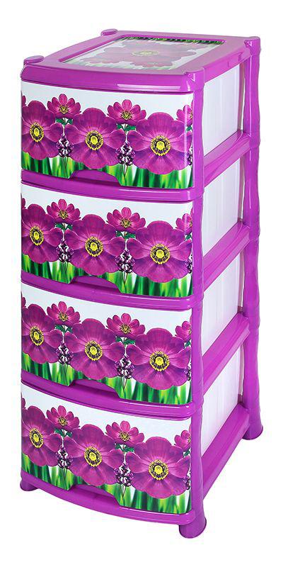 Комод Violet «Фиалка», 4-х секционный, 40 х 47 х 94 см  алиэкспресс пуфики