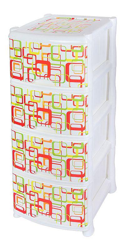 Комод Violet Квадро, 4-х секционный, 40 х 47 х 94 см0352/67Универсальный комод с 4 выдвижными ящиками выполнен из экологически чистого пластика. Идеально подходит для хранения игрушек и других хозяйственных предметов. Достаточно вместительный, но в то же время компактный. Можно сократить количество ярусов по желанию. Поставляется в разобранном виде. Максимальная нагрузка на 1 ящик комода равна 12 кг.