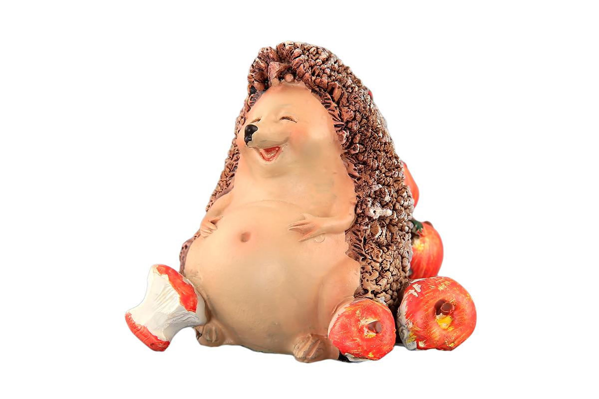 Фигурка декоративная Elan Gallery Ежик с яблоками, высота 5 см700033Декоративная фигурка, изготовленная из полистоуна, станет необычным аксессуаром для вашего интерьера. Эта очаровательная вещица станет отличным подарком вашим друзьям и близким. Размер фигурки: 5,5 х 5,5 х 5 см.