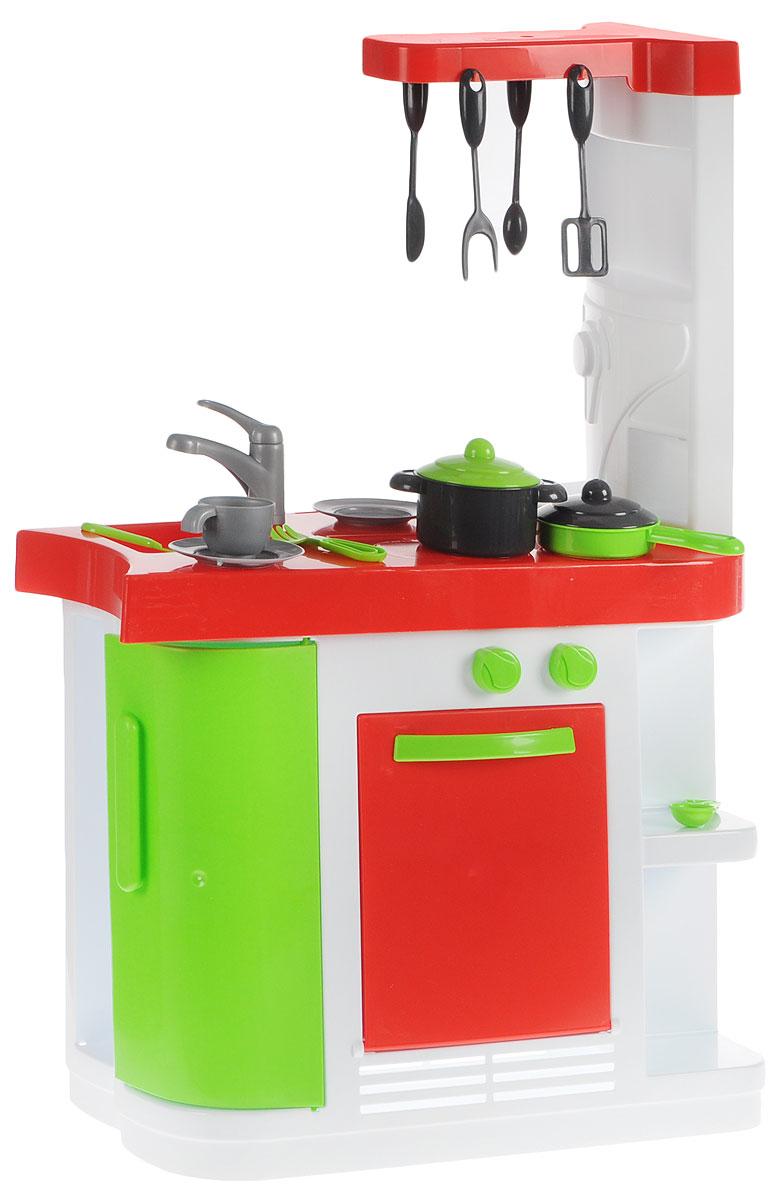 Palau Toys Игрушечная модульная кухня 07/162907/1629Для ребенка нет ничего лучше, чем погрузиться в атмосферу тематической игры. Но можно сделать развлечение девочки намного интереснее и реалистичнее, если дополнить его игровыми аксессуарами и конструкциями. Например, в игрушечной модульной кухне Palau Toys представлено множество атрибутов для того, чтобы комната превратилась в кухню с расставленной посудой и бытовой техникой. Все элементы набора выполнены очень реалистично: духовку можно открывать, на варочную поверхность размещать кастрюлю, а в раковину можно сложить всю грязную посуду. Дополнительную правдоподобность игре придадут столовые приборы из набора, которые можно повесить на крючки или имитировать ими процесс еды. Игрушечная модульная кухня Palau Toys непременно придется по вкусу девочкам, которые всегда с огромным удовольствием имитируют процесс приготовления вкусных блюд. Благодаря этому тематическому набору дети обязательно захотят придумать увлекательный сюжет игры, улучшая при этом образное мышление и...