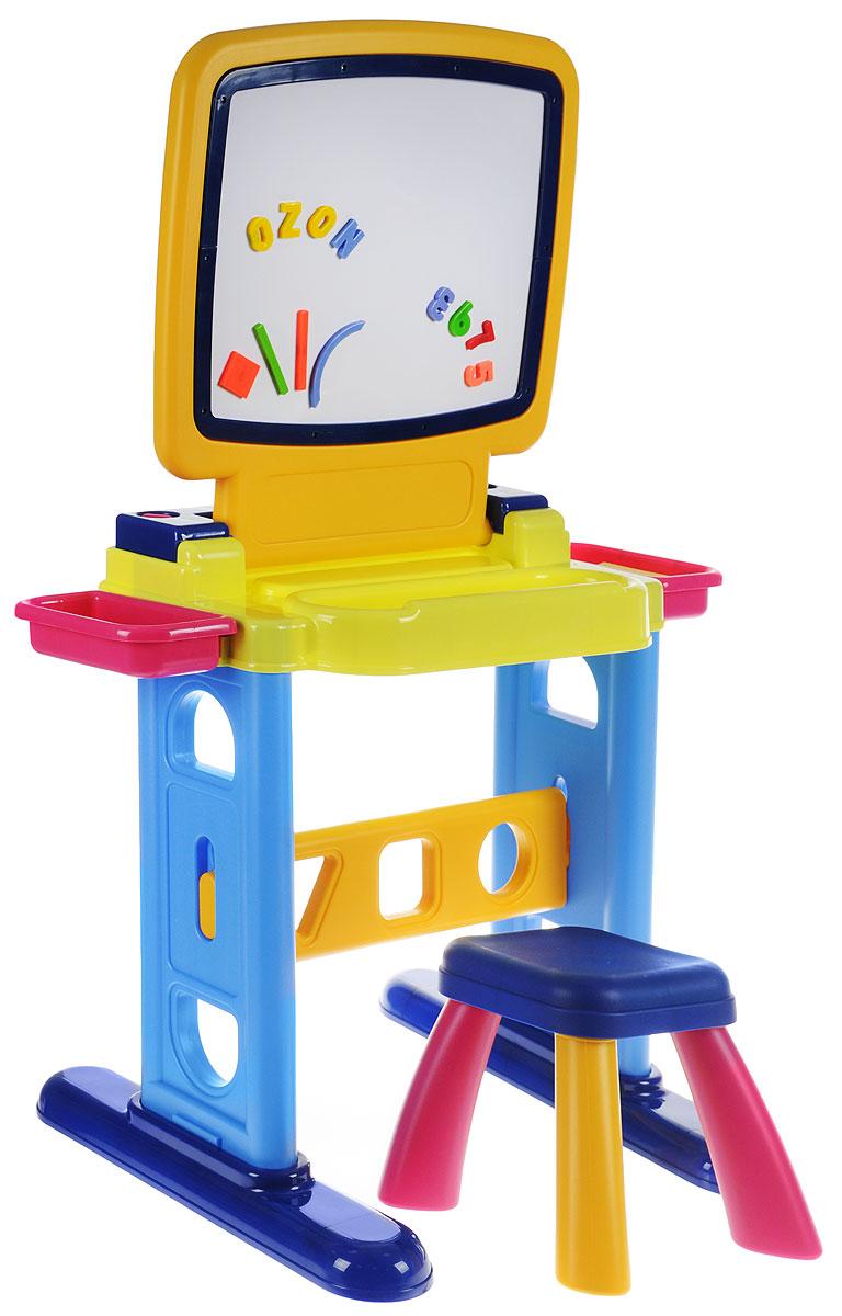 Playgo Парта-доска для рисования с табуретом и аксессуарами