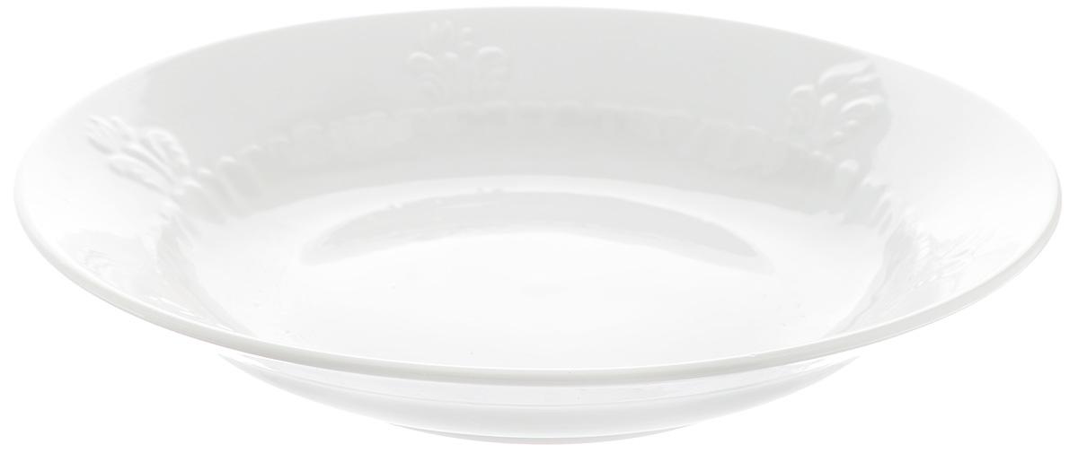 Тарелка глубокая Фарфор Вербилок, диаметр 23 см2260001БГлубокая тарелка Фарфор Вербилок выполнена из высококачественного фарфора и украшена ярким рисунком. Она прекрасно впишется в интерьер вашей кухни и станет достойным дополнением к кухонному инвентарю. Тарелка Фарфор Вербилок подчеркнет прекрасный вкус хозяйки и станет отличным подарком. Диаметр тарелки: 23 см. Высота тарелки: 4 см.