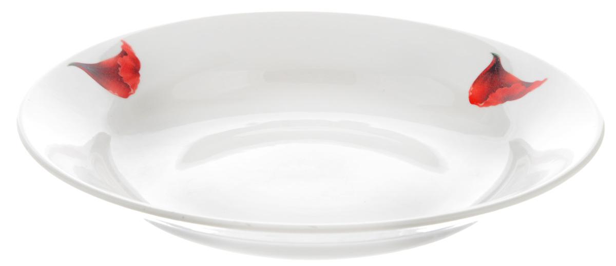 Тарелка глубокая Фарфор Вербилок Маков цвет, диаметр 23 см22600760Глубокая тарелка Фарфор Вербилок Маков цвет выполнена из высококачественного фарфора и украшена ярким рисунком. Она прекрасно впишется в интерьер вашей кухни и станет достойным дополнением к кухонному инвентарю. Тарелка Фарфор Вербилок Маков цвет подчеркнет прекрасный вкус хозяйки и станет отличным подарком. Диаметр тарелки: 23 см. Высота тарелки: 4 см.