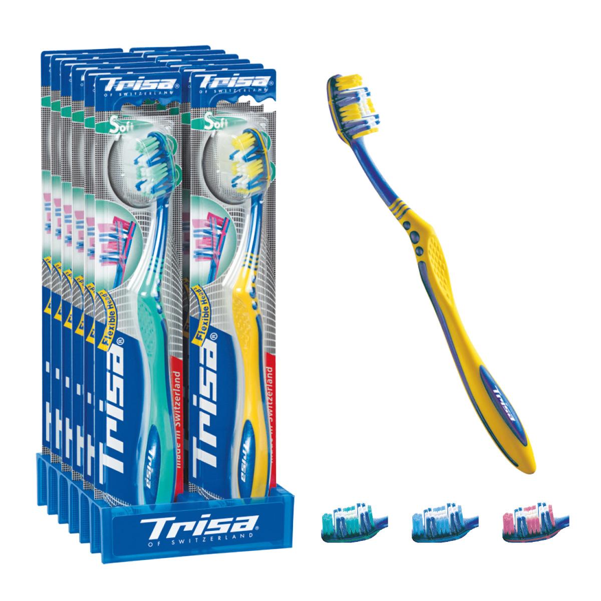 Trisa зубная щётка Флексибл Хеад жесткая 517437