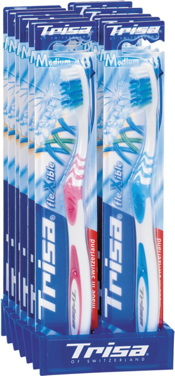 Trisa зубная щётка Триза Флексибл Актив мягкая618896Разноуровневая щетина для эффективного удаления налета в труднодоступных межзубных промежутках. Активный выступ для чистки труднодоступных коренных зубов. Гибкий корпус регулирует давление при чистке.