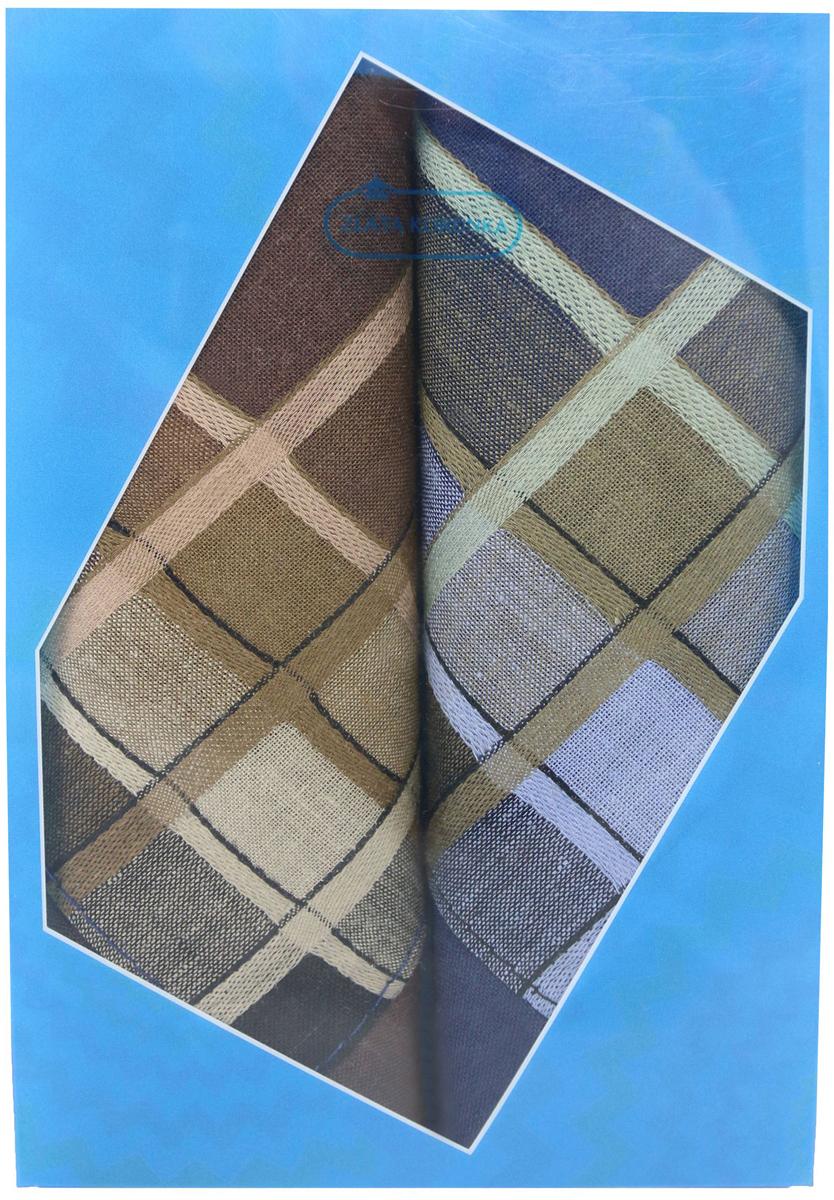 Платок носовой мужской Zlata Korunka, цвет: мультиколор, 2 шт. 40213-11. Размер 38 х 38 см40213-11Платки носовые мужские в упаковке по 2 шт. Носовые платки изготовлены из 100% хлопка, так как этот материал приятен в использовании, хорошо стирается, не садится, отлично впитывает влагу. Размер: 28 х 28..