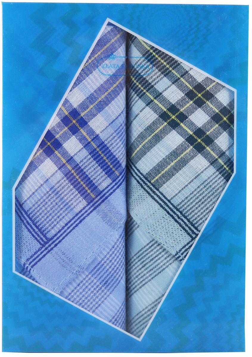 Платок носовой мужской Zlata Korunka, цвет: мультиколор, 2 шт. 40213-13. Размер 38 х 38 см40213-13Платки носовые мужские в упаковке по 2 шт. Носовые платки изготовлены из 100% хлопка, так как этот материал приятен в использовании, хорошо стирается, не садится, отлично впитывает влагу. Размер: 28 х 28..