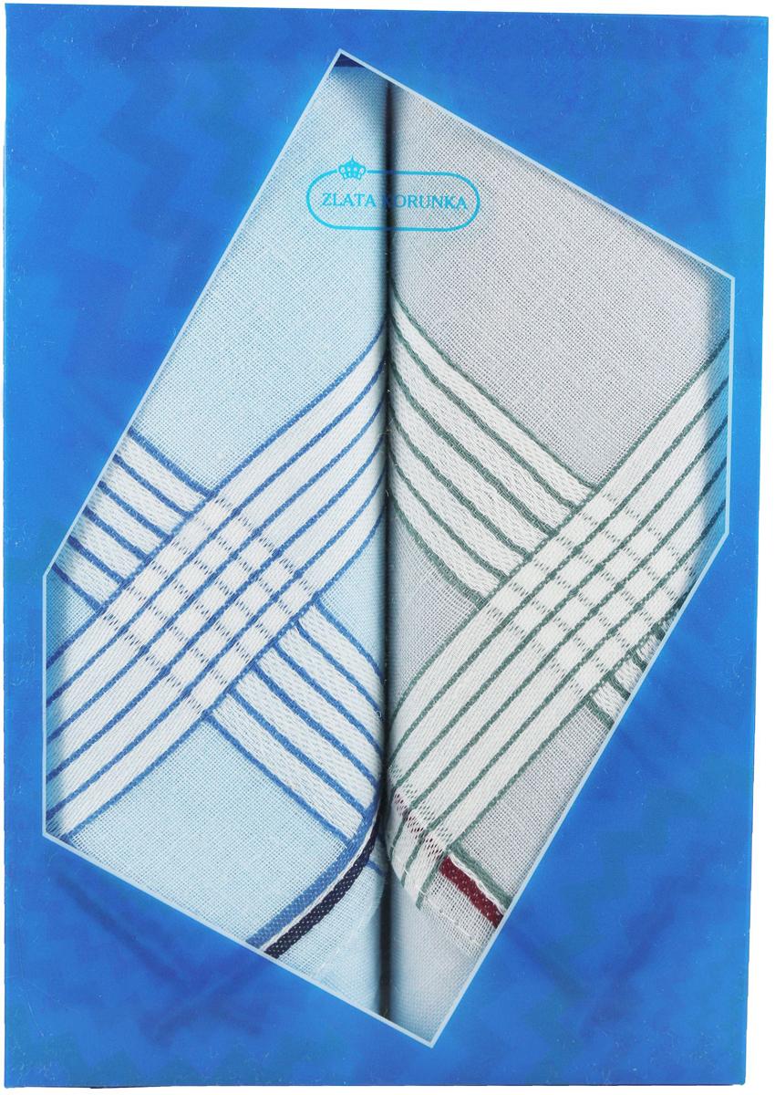 Платок носовой мужской Zlata Korunka, цвет: мультиколор, 2 шт. 40213-16. Размер 38 х 38 см40213-16Платки носовые мужские в упаковке по 2 шт. Носовые платки изготовлены из 100% хлопка, так как этот материал приятен в использовании, хорошо стирается, не садится, отлично впитывает влагу. Размер: 28 х 28..
