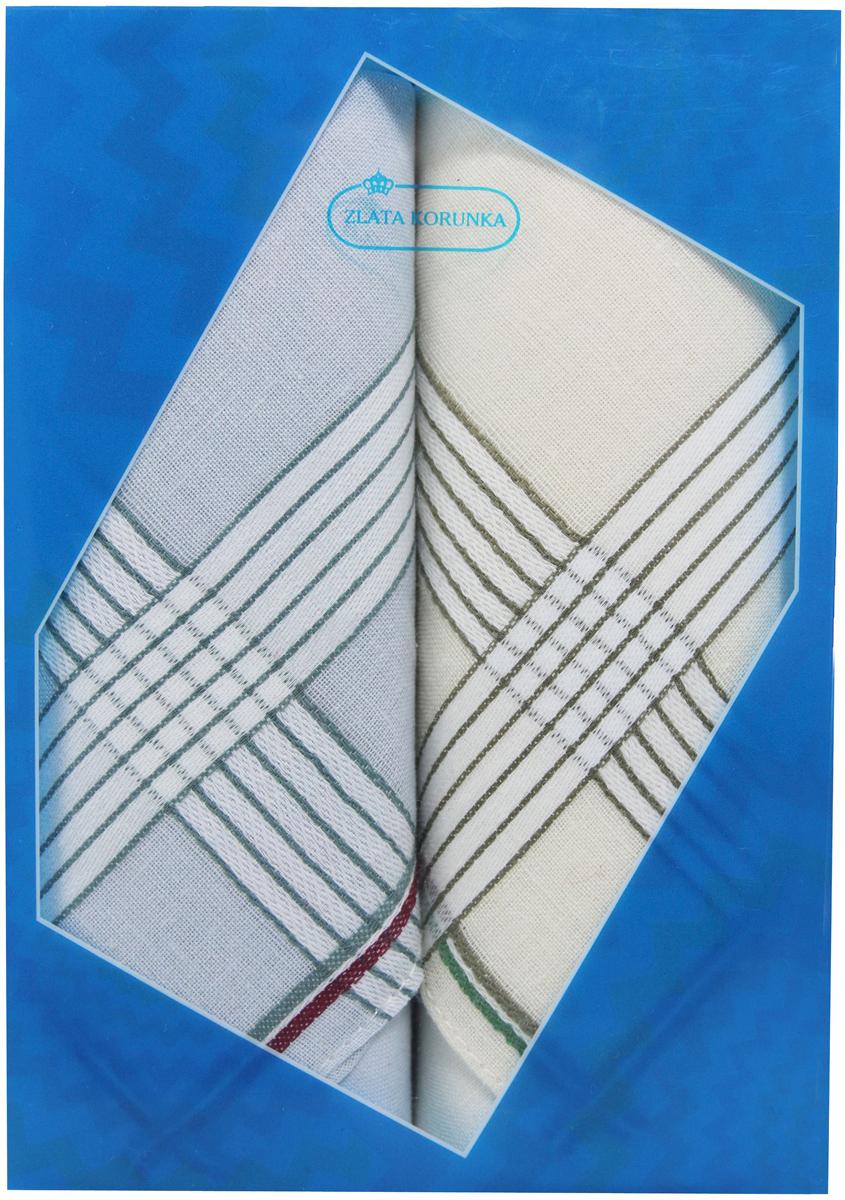 Платок носовой мужской Zlata Korunka, цвет: мультиколор, 2 шт. 40213-17. Размер 38 х 38 см40213-17Платки носовые мужские в упаковке по 2 шт. Носовые платки изготовлены из 100% хлопка, так как этот материал приятен в использовании, хорошо стирается, не садится, отлично впитывает влагу. Размер: 28 х 28..