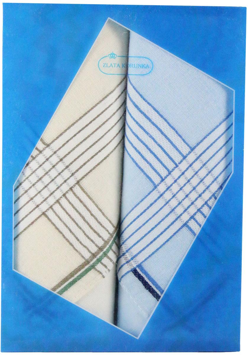 Платок носовой мужской Zlata Korunka, цвет: мультиколор, 2 шт. 40213-18. Размер 38 х 38 см40213-18Платки носовые мужские в упаковке по 2 шт. Носовые платки изготовлены из 100% хлопка, так как этот материал приятен в использовании, хорошо стирается, не садится, отлично впитывает влагу. Размер: 28 х 28..