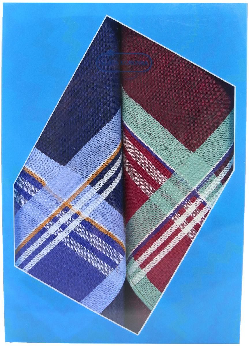Платок носовой мужской Zlata Korunka, цвет: мультиколор, 2 шт. 40213-20. Размер 38 х 38 см40213-20Платки носовые мужские в упаковке по 2 шт. Носовые платки изготовлены из 100% хлопка, так как этот материал приятен в использовании, хорошо стирается, не садится, отлично впитывает влагу. Размер: 28 х 28..