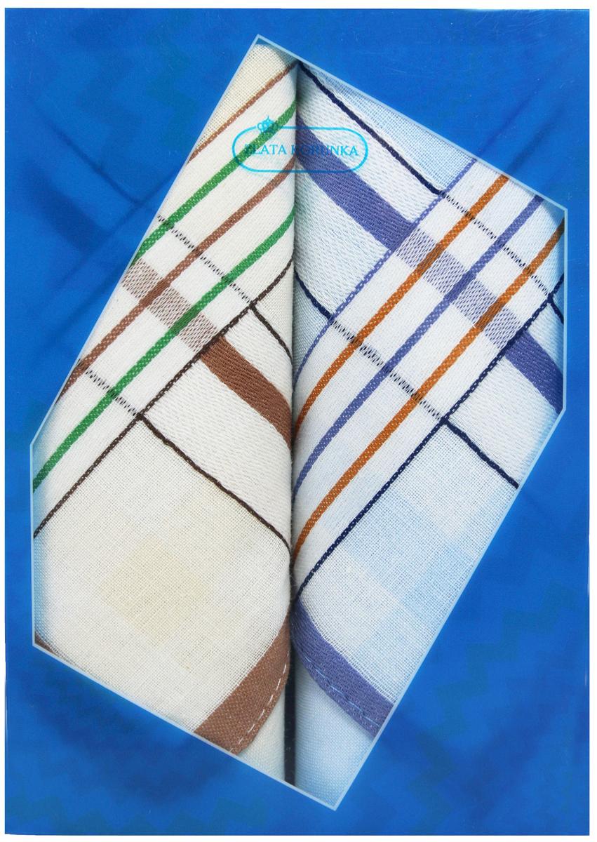 Платок носовой мужской Zlata Korunka, цвет: мультиколор, 2 шт. 40213-23. Размер 38 х 38 см40213-23Платки носовые мужские в упаковке по 2 шт. Носовые платки изготовлены из 100% хлопка, так как этот материал приятен в использовании, хорошо стирается, не садится, отлично впитывает влагу. Размер: 28 х 28..