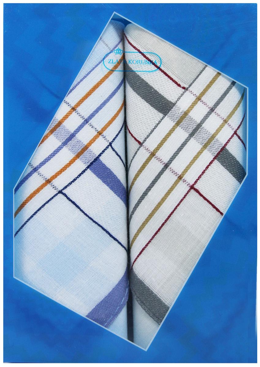 Платок носовой мужской Zlata Korunka, цвет: мультиколор, 2 шт. 40213-24. Размер 38 х 38 см40213-24Платки носовые мужские в упаковке по 2 шт. Носовые платки изготовлены из 100% хлопка, так как этот материал приятен в использовании, хорошо стирается, не садится, отлично впитывает влагу. Размер: 28 х 28..