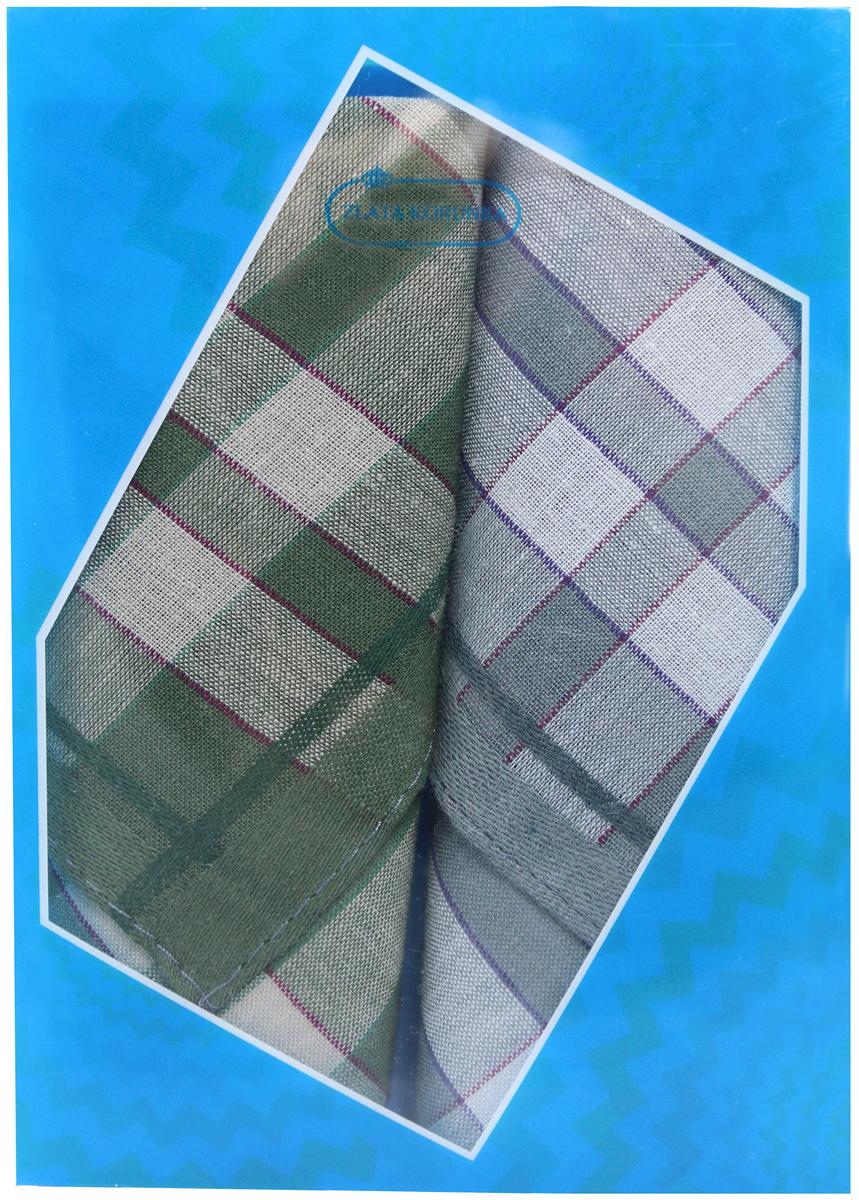 Платок носовой мужской Zlata Korunka, цвет: мультиколор, 2 шт. 40213-26. Размер 38 х 38 см40213-26Платки носовые мужские в упаковке по 2 шт. Носовые платки изготовлены из 100% хлопка, так как этот материал приятен в использовании, хорошо стирается, не садится, отлично впитывает влагу. Размер: 28 х 28..