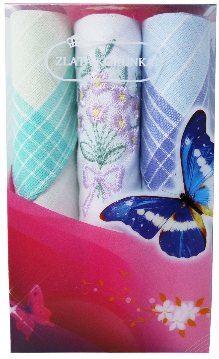 Платок носовой женский Zlata Korunka, цвет: мультиколор, 3 шт. 40423-102. Размер 28 х 28 см40423-102Платки носовые женские в упаковке по 3 шт. Носовые платки изготовлены из 100% хлопка, так как этот материал приятен в использовании, хорошо стирается, не садится, отлично впитывает влагу. Размер: 28 х 28..