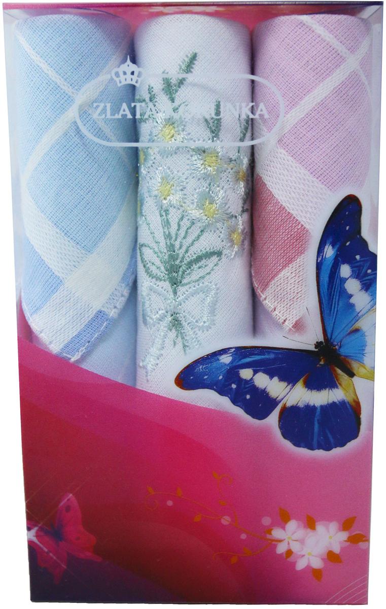 Платок носовой женский Zlata Korunka, цвет: мультиколор, 3 шт. 40423-104. Размер 28 х 28 см40423-104Платки носовые женские в упаковке по 3 шт. Носовые платки изготовлены из 100% хлопка, так как этот материал приятен в использовании, хорошо стирается, не садится, отлично впитывает влагу. Размер: 28 х 28..