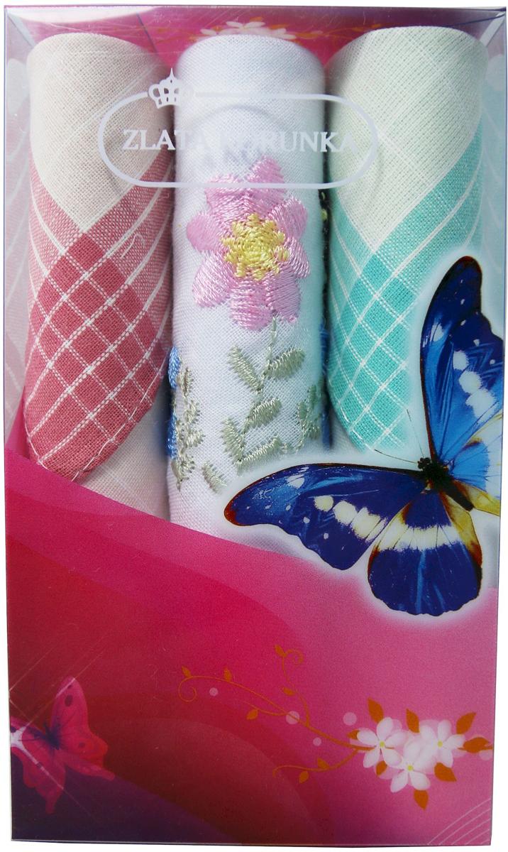 Платок носовой женский Zlata Korunka, цвет: мультиколор, 3 шт. 40423-106. Размер 28 х 28 см40423-106Платки носовые женские в упаковке по 3 шт. Носовые платки изготовлены из 100% хлопка, так как этот материал приятен в использовании, хорошо стирается, не садится, отлично впитывает влагу. Размер: 28 х 28..