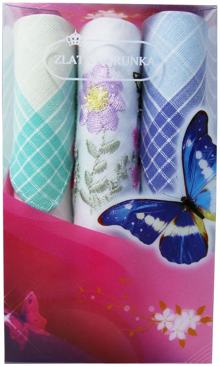 Платок носовой женский Zlata Korunka, цвет: мультиколор, 3 шт. 40423-107. Размер 28 х 28 см40423-107Платки носовые женские в упаковке по 3 шт. Носовые платки изготовлены из 100% хлопка, так как этот материал приятен в использовании, хорошо стирается, не садится, отлично впитывает влагу. Размер: 28 х 28..