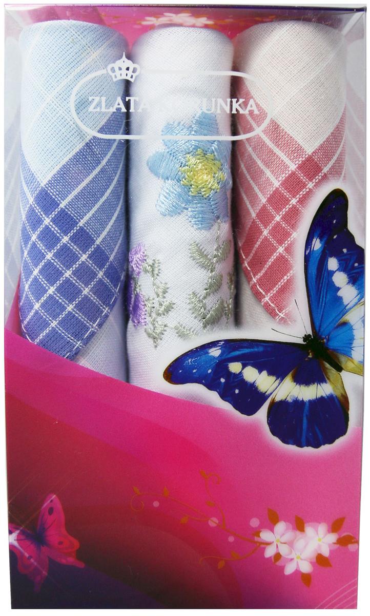 Платок носовой женский Zlata Korunka, цвет: мультиколор, 3 шт. 40423-108. Размер 28 х 28 см40423-108Платки носовые женские в упаковке по 3 шт. Носовые платки изготовлены из 100% хлопка, так как этот материал приятен в использовании, хорошо стирается, не садится, отлично впитывает влагу. Размер: 28 х 28..