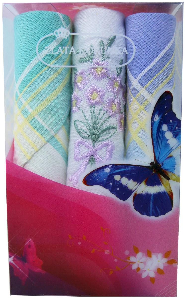 Платок носовой женский Zlata Korunka, цвет: мультиколор, 3 шт. 40423-112. Размер 28 х 28 см40423-112Платки носовые женские в упаковке по 3 шт. Носовые платки изготовлены из 100% хлопка, так как этот материал приятен в использовании, хорошо стирается, не садится, отлично впитывает влагу. Размер: 28 х 28..