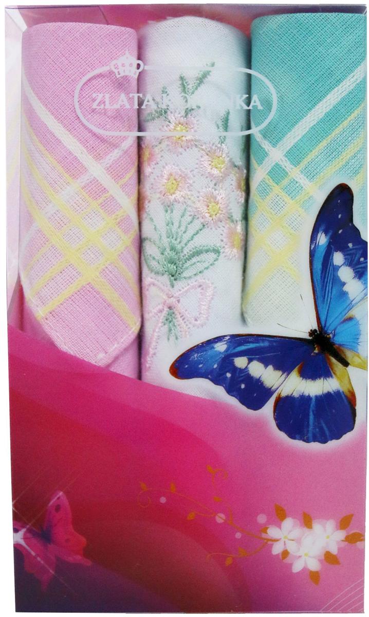 Платок носовой женский Zlata Korunka, цвет: мультиколор, 3 шт. 40423-113. Размер 28 х 28 см40423-113Платки носовые женские в упаковке по 3 шт. Носовые платки изготовлены из 100% хлопка, так как этот материал приятен в использовании, хорошо стирается, не садится, отлично впитывает влагу. Размер: 28 х 28..
