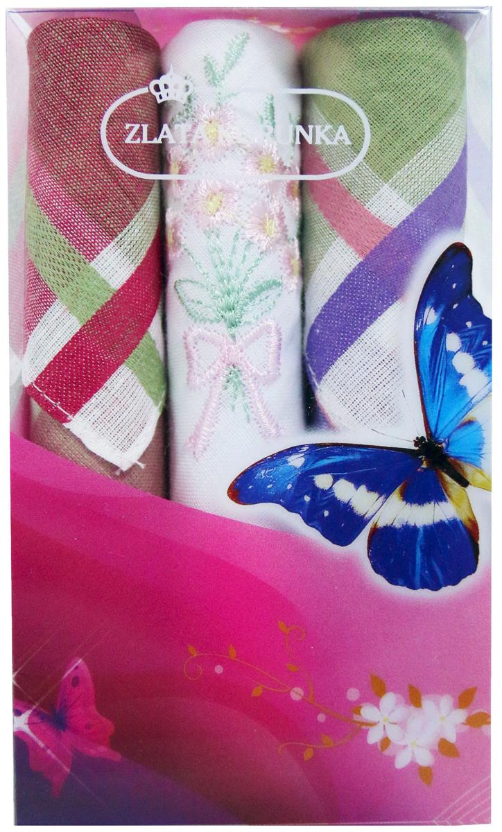 Платок носовой женский Zlata Korunka, цвет: мультиколор, 3 шт. 40423-115. Размер 28 х 28 см40423-115Платки носовые женские в упаковке по 3 шт. Носовые платки изготовлены из 100% хлопка, так как этот материал приятен в использовании, хорошо стирается, не садится, отлично впитывает влагу. Размер: 28 х 28..