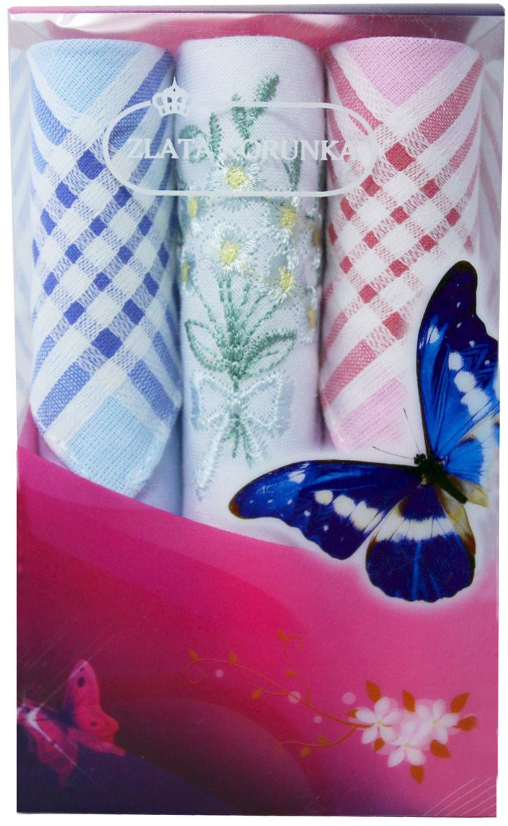 Платок носовой женский Zlata Korunka, цвет: мультиколор, 3 шт. 40423-120. Размер 28 х 28 см40423-120Платки носовые женские в упаковке по 3 шт. Носовые платки изготовлены из 100% хлопка, так как этот материал приятен в использовании, хорошо стирается, не садится, отлично впитывает влагу. Размер: 28 х 28..
