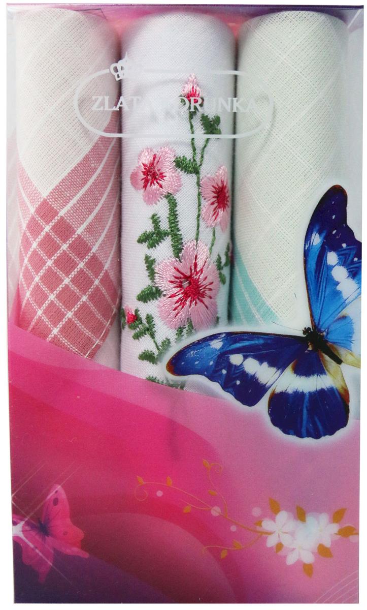 Платок носовой женский Zlata Korunka, цвет: мультиколор, 3 шт. 40423-128. Размер 28 х 28 см40423-128Платки носовые женские в упаковке по 3 шт. Носовые платки изготовлены из 100% хлопка, так как этот материал приятен в использовании, хорошо стирается, не садится, отлично впитывает влагу. Размер: 28 х 28..