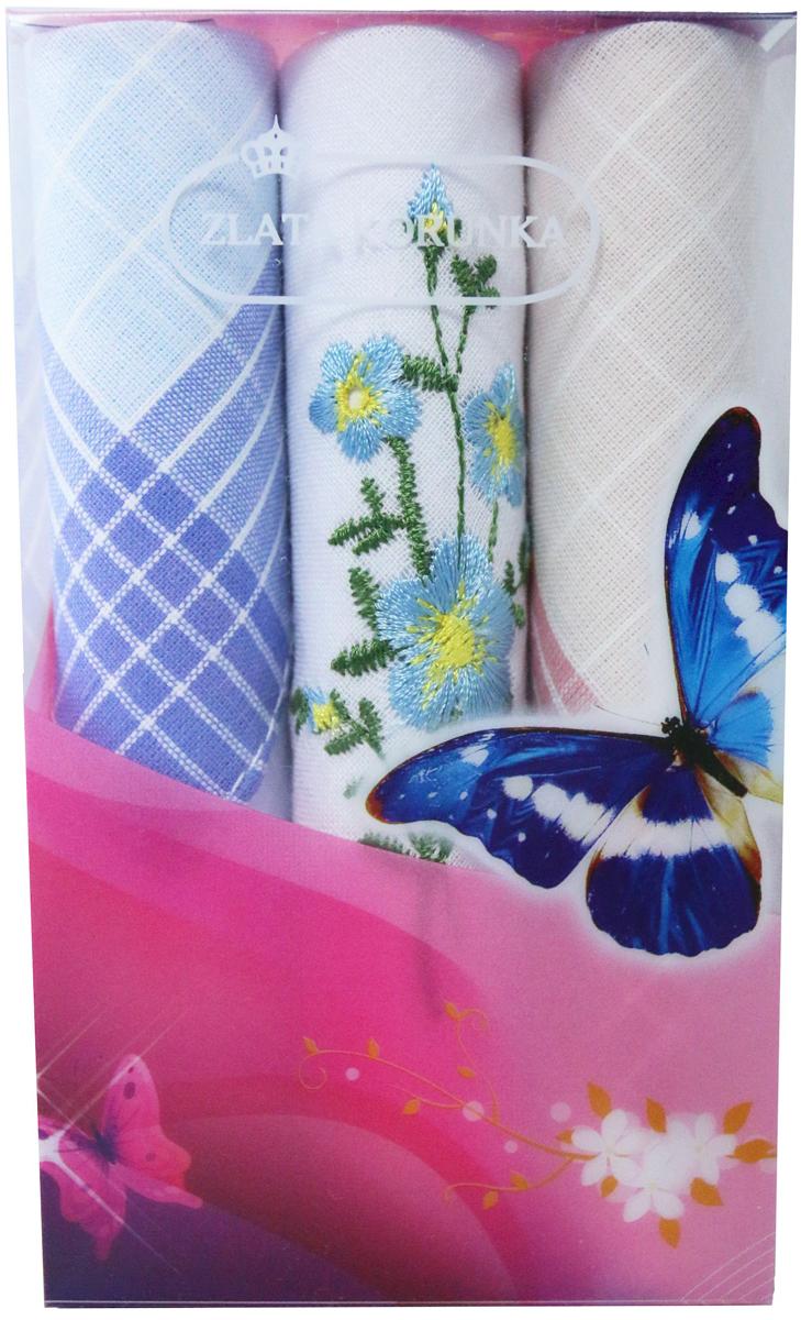Платок носовой женский Zlata Korunka, цвет: мультиколор, 3 шт. 40423-129. Размер 28 х 28 см40423-129Платки носовые женские в упаковке по 3 шт. Носовые платки изготовлены из 100% хлопка, так как этот материал приятен в использовании, хорошо стирается, не садится, отлично впитывает влагу. Размер: 28 х 28..