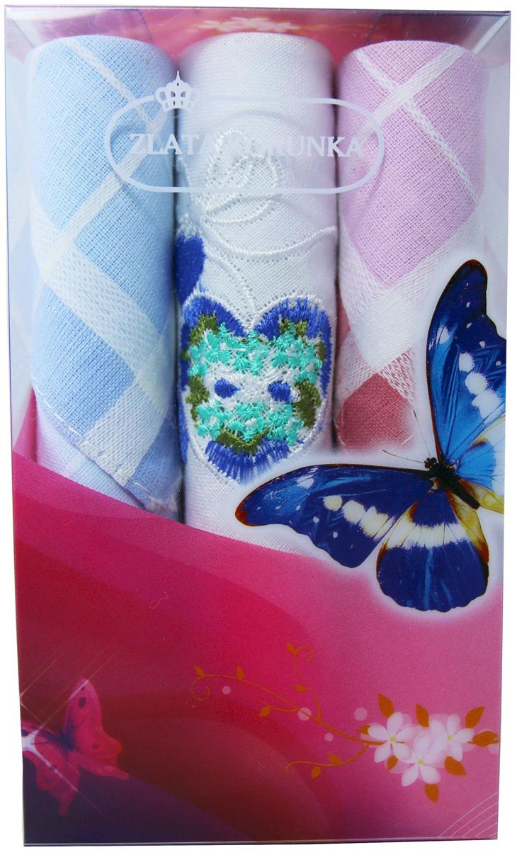 Платок носовой женский Zlata Korunka, цвет: мультиколор, 3 шт. 40423-13. Размер 28 х 28 см40423-13Платки носовые женские в упаковке по 3 шт. Носовые платки изготовлены из 100% хлопка, так как этот материал приятен в использовании, хорошо стирается, не садится, отлично впитывает влагу. Размер: 28 х 28..